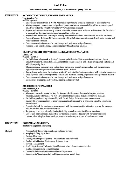 freight sle resume billing manager cover letter