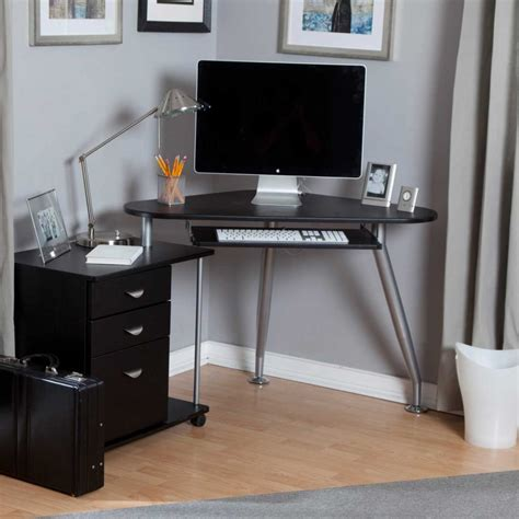 small black corner desk perfect workspace with chic small corner computer desk