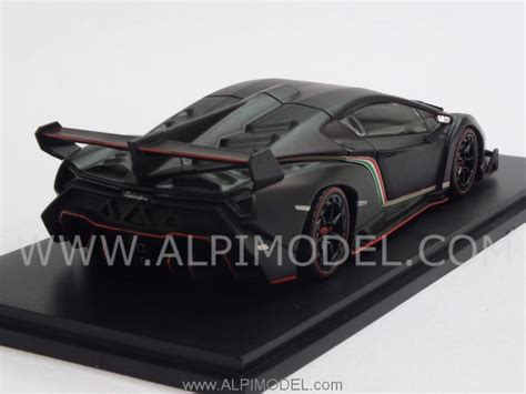 Kyosho Scale 1 43 Lamborghini Veneno Black Y1103 kyosho lamborghini veneno 2013 matt black 1 43 scale model