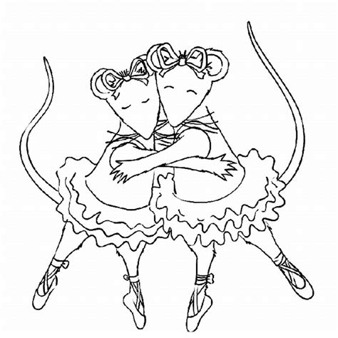 christmas ballerina coloring pages angelina ballerina coloring pages to download and print