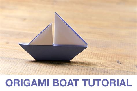 Boat Origami - learn how to make a origami sail boat