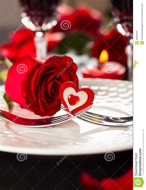 valentines day places place setting for s day royalty free stock photo
