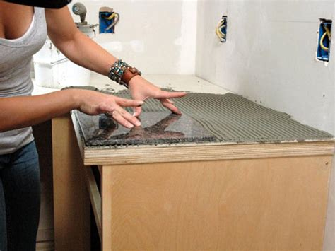 Installing Marble Tile How To Install A Granite Tile Kitchen Countertop How Tos Diy