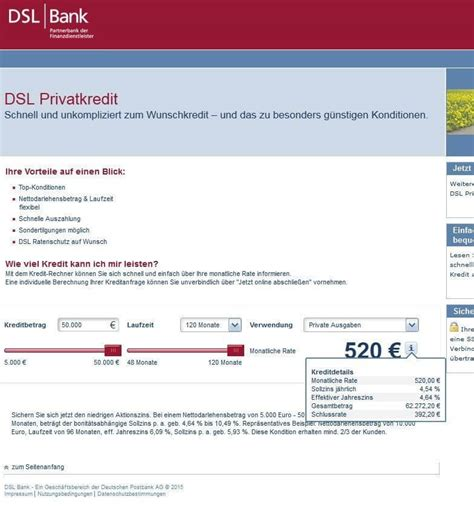 dsl bank kredit dsl bank kredit ratenkredit angebot im zinsen check