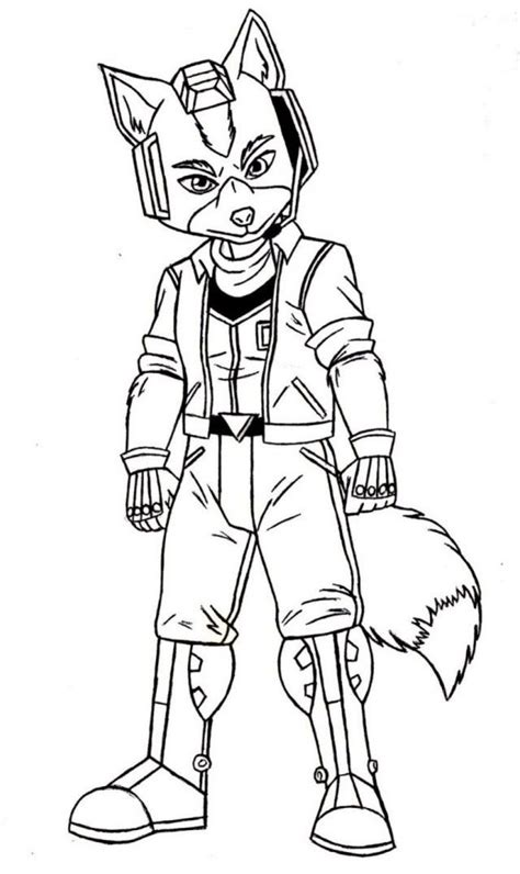 star fox coloring pages printable coloring sheet