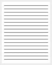 Paper Lines Template by 11 Line Paper Templates Free Sle Exle Format