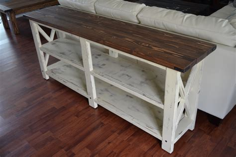 white sofa tables ana white sofa table ana white rustic x console diy