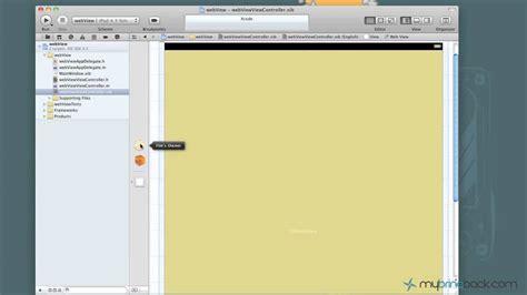 xcode uiwebview tutorial learn xcode 4 tutorial ios ipad iphone 1 15 load webpage