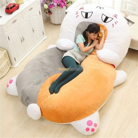 giant stuffed animal bed fancytrader cartoon animal dragon tatami giant stuffed