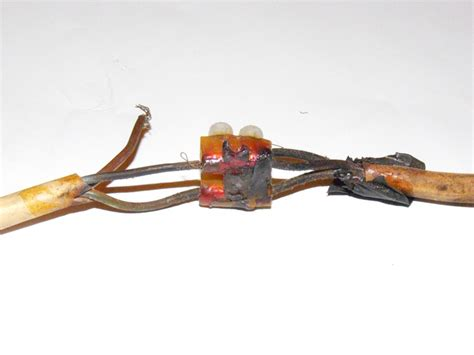 resistors heat damage heat damaged supply cable to a recently serviced gas this damage was due to