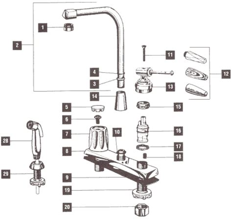 Free Faucet Parts by Delta 470 Faucet Parts Diagram Delta Get Free Image
