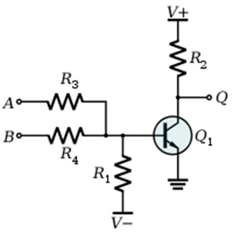 resistors in transistor circuits are used to do what resistor transistor logic