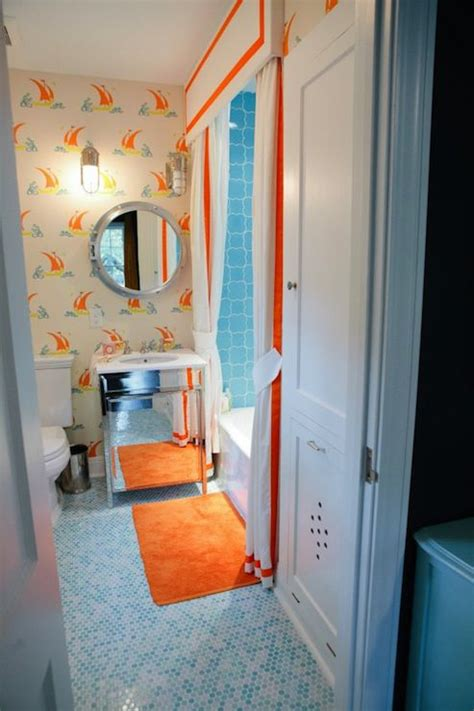 blue and orange bathroom 15 orange bathroom ideas