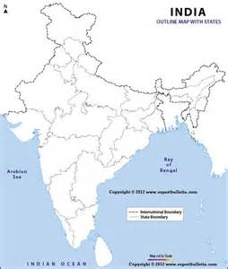 India Political Map Outline With States by Outline Maps Of India With States Expert Bulletin