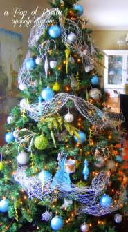turquoise christmas tree decorations a pop of pretty