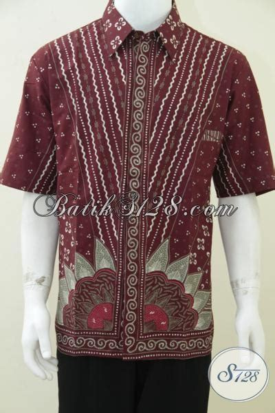 Dress Batik Merah Marun jual baju batik tulis pria warna merah marun untuk kado