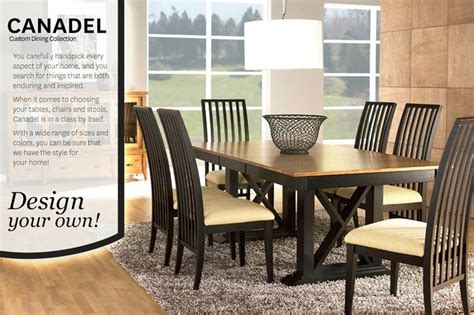 Solid Wood Dining Table Canada 30 Best Images About Canadel Custom Dining Furniture On