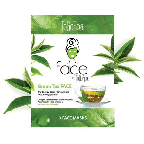 Kit 4f Green Tea 35g green tea by togospa collagen gel masks summer sheen pro