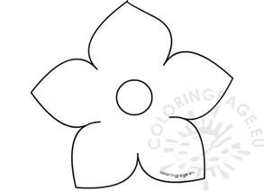 flower template with 6 petals printable five petal flower template coloring page