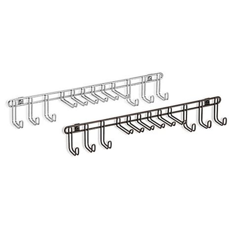 tie rack bed bath and beyond interdesign 174 classico 12 hook wall mount tie belt rack