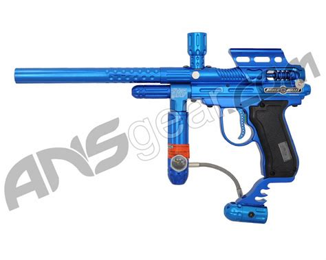 V Two Paintball Bullets psycho ballistics silver bullet lcd paintball gun blue