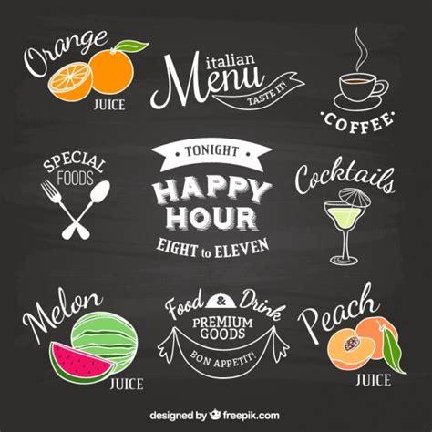 cocina on market happy hour restaurant etiketten auf tafel download der kostenlosen