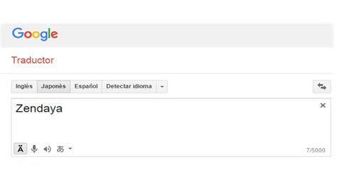 traductor imagenes japones español google traductor si escribes zendaya te aparecer 225 esto