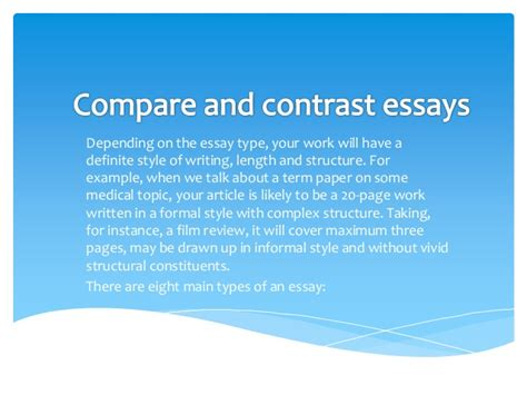 Topics For Compare And Contrast Essays Elementary by College Essays College Application Essays Compare And