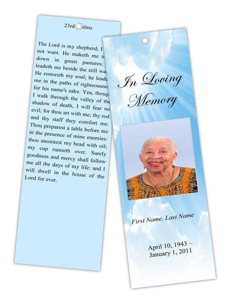 memory card funeral template funeral program templates memorial bookmark template