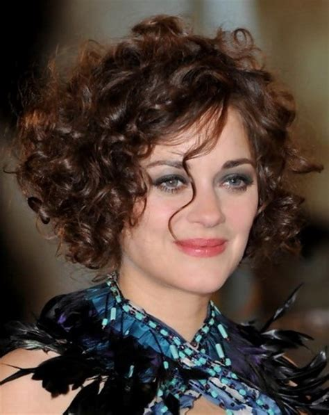 haircuts for curly thick hair and round faces curly short hairstyles for round faces
