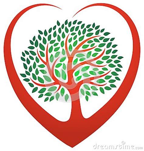 heart tree logo stock vector image