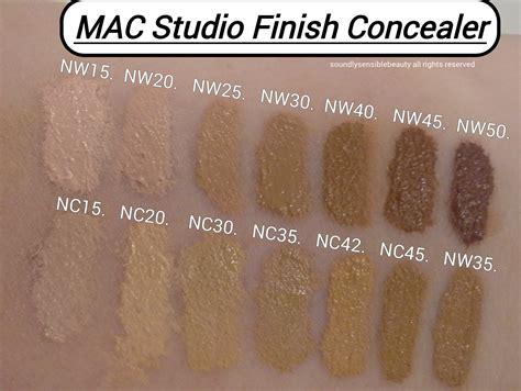 Mac Concealer Nc30 mac studio finish concealer review swatches of shades