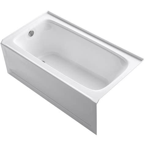 koehler bathtubs shop kohler bancroft 60 in white acrylic alcove bathtub
