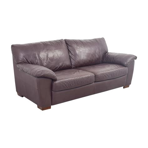 87 ikea ikea vreta brown leather two cushion sofa