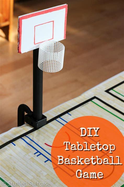 diy game diy tabletop basketball game fun basketball party ideas