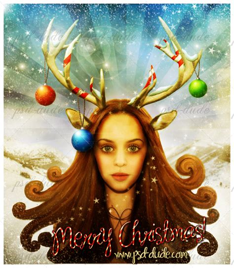 photoshop card templates place faces into reindeer create a vintage card in photoshop photoshop