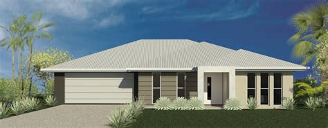 Simple Four Bedroom House Plans by Brick Veneer Designs Stirling Homes Sunshine Coast Builder