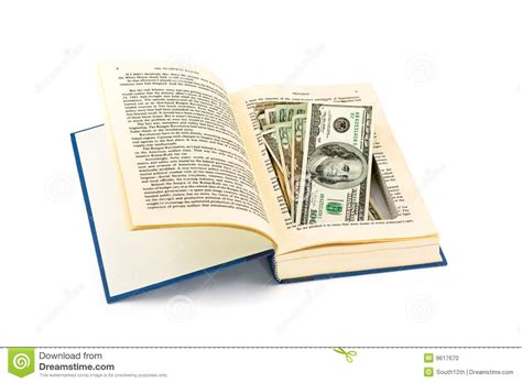 money a novel books money in an book stock photo image 9617670