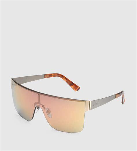 gucci mask frame metal sunglasses lyst