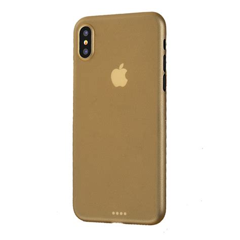 0 iphone x iphone x 0 3mm ultra thin plastic back cover gold pdair pouch