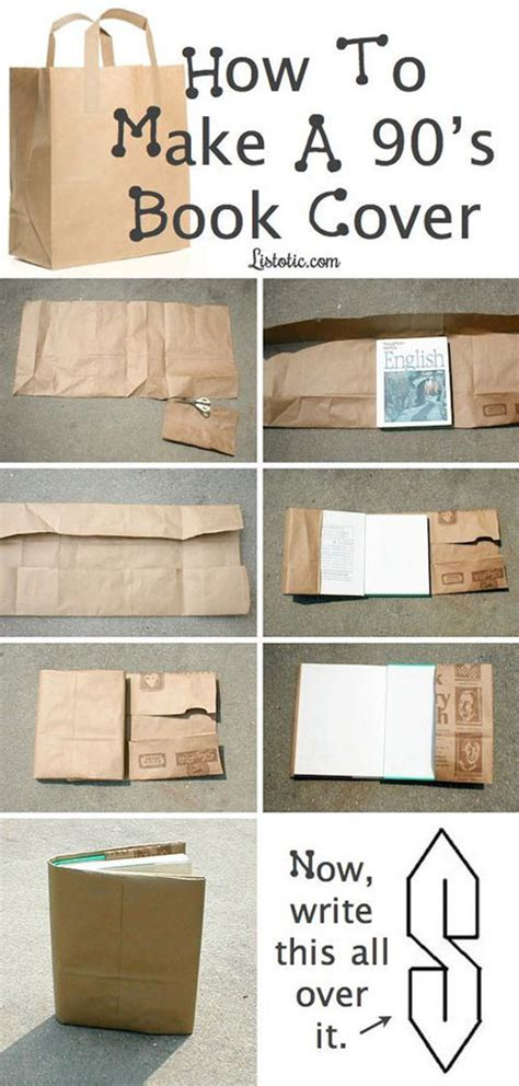 How To Make Book Cover From Paper Bag - book cover from the 90s the meta picture