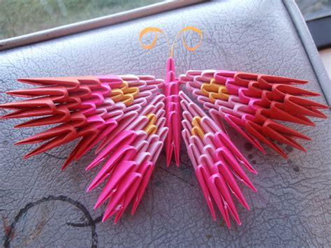 How To Make A 3d Origami Butterfly - 3d origami butterfly by dcheeky on deviantart