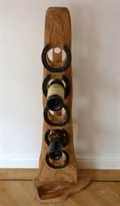 floor standing elm amp oak 5 bottle wine rack wood reincarnation