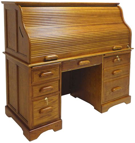59 Quot W Oak Roll Top Computer Desk In Stock Roll Top Office Desk