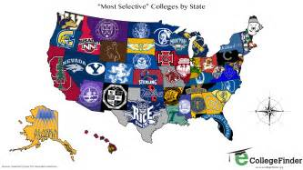 map of colleges in total frat move u s map shows the most selective