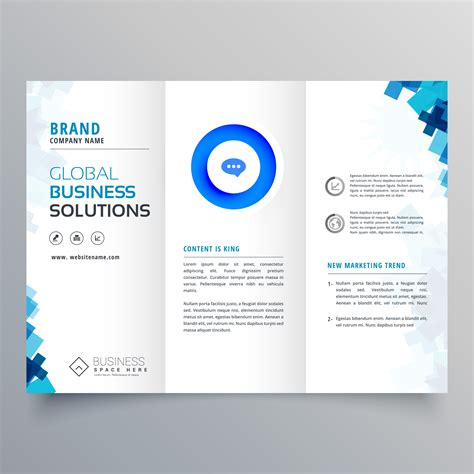 Trifold Business Brochure Vector Design Template Download Free Vector Art Stock Graphics Images Template Design