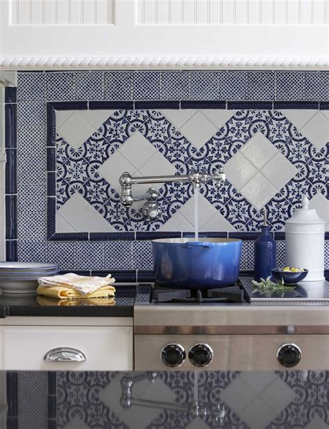Kitchen Floor Ceramic Tile Design Ideas A Blue And White Backsplash To Envy Stacystyle S Blog