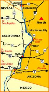 yuma arizona map colorado river cities map