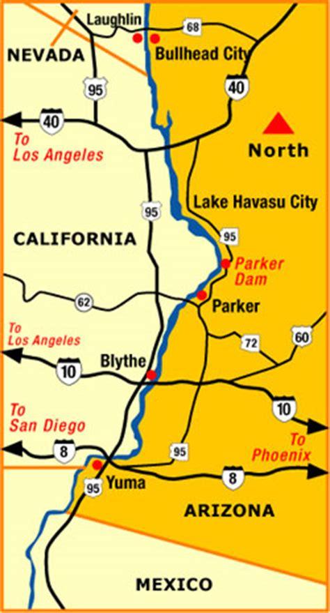 map arizona colorado river communities a3 map