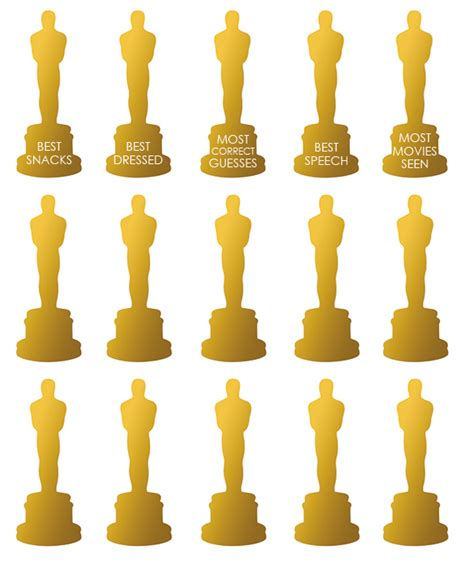 How To Make An Oscar Trophy Out Of Paper - print oscar tattoos squirrelly minds
